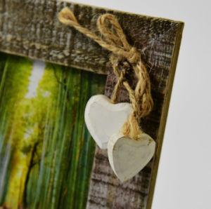 Solidwood minable coeur en bois Cadre photo et image