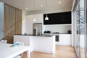 Лак современной деревянной мебелью из дома фанеры кухня шкаф (ACS2-L121)