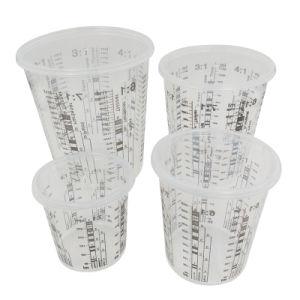 O rácio e calibrado o copo de mistura de tinta plástica
