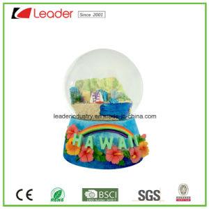 Água de resina Hand-Painted globo com a construção de Globo de neve para decoração e Loja Dom