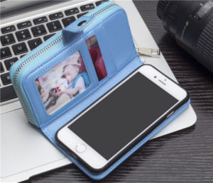 Cuir synthétique Flip Folio Wallet Cas avec bracelet et le logement de carte pour l'iPhone 7 8 X