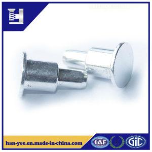 Una superficie de metal personalizados de inserción de cabeza redonda remachar