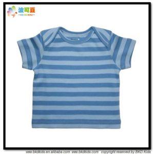 아기 옷을 인쇄하는 봉투 목 아기 의복 줄무늬