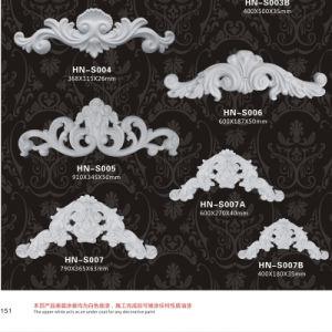 De grote Ornamenten van de Kunst Appliques/Onlays Pu van de Muur van het Polyurethaan hn-S007