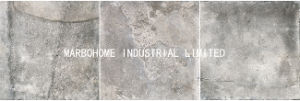 完全なボディー・セメントの灰色の壁およびフロアーリングのための磁器によってガラス化される無作法なマットのタイル(MB69019)