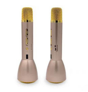 최신 판매 휴대용 소형 가득 차있는 금속 K 노래 무선 Bluetooth 스피커 마이크 소형 Karaoke 선수 KTV 노래 기록