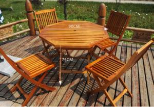 Juego de comedor al aire libre Jardín juego de comedor de madera juego de comedor plegada (M-X1054)