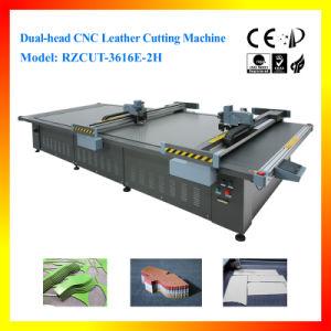 Máquina de corte de couro CNC Dual-Head para artigos de couro