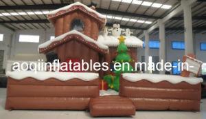 Inflable de Navidad muñeco de nieve de la casa de la publicidad (AQ1106-1)