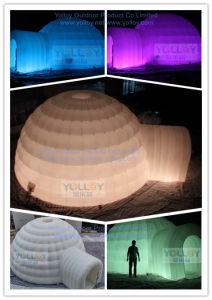 كوخ قبّيّ ثلجيّ خارجيّة قابل للنفخ قبة معرض خيمة