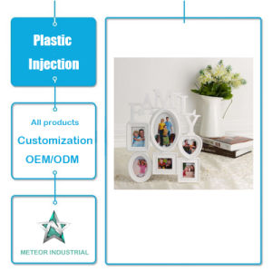 Productos de plástico personalizadas Fotos decorativos Marco de plástico molde de inyección