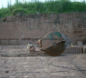 Van de Diesel van het Spoor van het spoor het Blok die Steen van de Steengroeve Scherpe Machine zagen