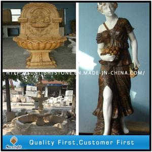 Jardim de mármore e granito escultura, esculpir a pedra lavar louça, Trevi para decoração (Stone lado entalhar)