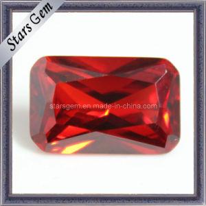 オレンジ色の八角形のジルコニアの合成物質の宝石