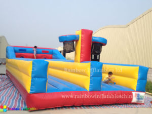 Migliore Selling Inflatable Basketball Bungee Jumping Running da vendere