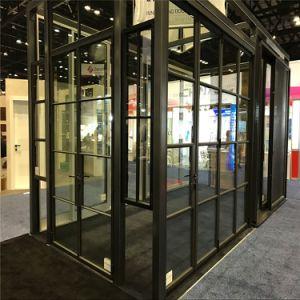 Großhandelsaluminiumrahmen-Glasfalz-Tür