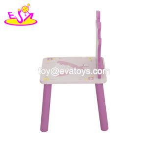 2018 Nuevo diseño de la Princesa de los niños de madera escritorio y silla para las niñas W08G247