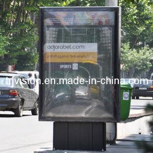 Basamento Scroller esterno LED che fa pubblicità alla casella chiara