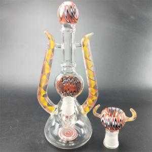 Einzelnes Entwurfs-Pfeife-Fabrik-Großverkauf-Glas-Rohr