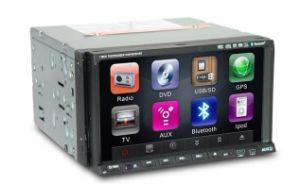 Два разъема DIN Slidding DVD с помощью панели управления