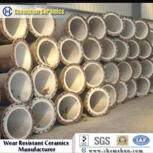 Ash Slurry Piping로 착용 Resistant Ceramic Lined Pipe Elbow
