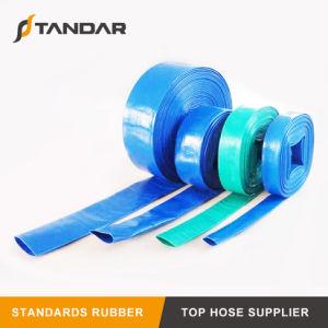 O PVC Layflat Plastic-Coated flexível da mangueira de descarga de água