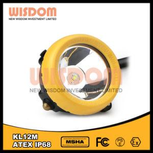 知恵Kl12mの鉱山によって束ねられるヘッドライト、25000lux LEDの帽子ランプ