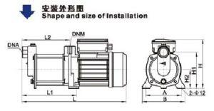 Bombas centrífugas centrifugas horizontales (BM2-9X2(t), con CE aprobada