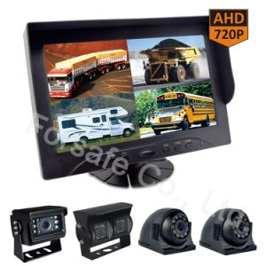 Systeem van de Camera van de auto Rearview met 9-duim de Monitor van de Mening van de Vierling van Ahd