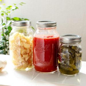 Traditionelles Essiggurke-Gemüsespeicher-Flaschenglas-Glas