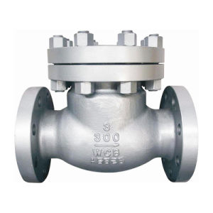 ANSI 150lb de acero inoxidable con bridas de válvula de retención de giro