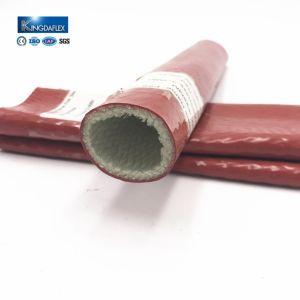 40mm Hochtemperatur-Silikon-Gummi-überzogene Fiberglas-Feuer-Hülse