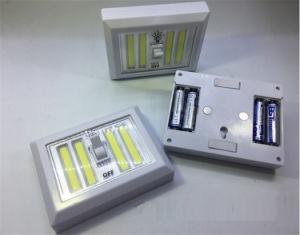 正方形超明るい4PCS 4COB押しライト4AA壁スイッチライト