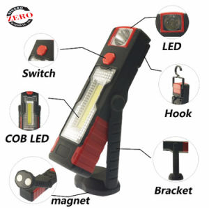 3W LED táctil COB 3 pila AAA de la luz de trabajo y de alta lúmenes Antorcha Linterna fuerte