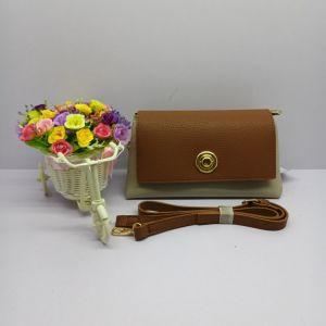 Mode Femmes PU Lady Commerce de gros sacs à bandoulière brun sac à main (No. 670)