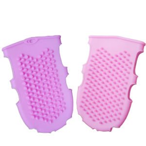 Горячая продажа удобная мягкая силиконовая массажные ванны перчатки