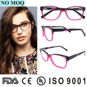 新しいモデルのイタリアのアセテートのEyewear二重カラーセリウムが付いている光学Eyewearフレーム