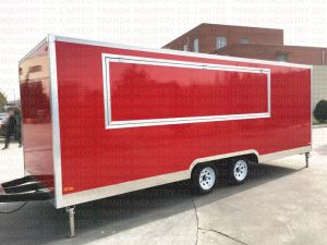 Camion in tutto il mondo cotto a vapore del caffè dei carrelli del caravan dell'alimento del chiosco dell'hamburger del cereale