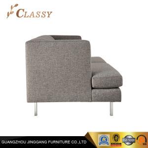 灰色のPolycottonカバーオフィスのソファーの取り外し可能な足の現代居間のソファー