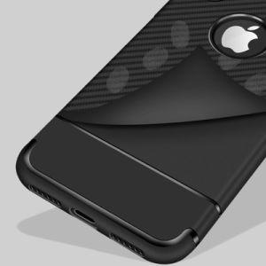 カーボンファイバーTPUの反低下はiPhone 8/Xのための電話箱を保護する