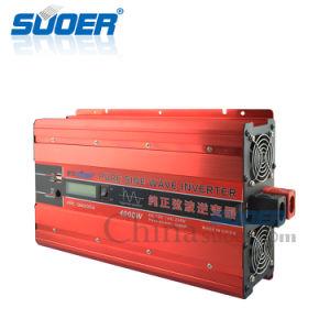 Suoer 12 Voltios de 220 voltios de 4000W Onda senoidal pura Inversor de potencia (FPC-D4000A)