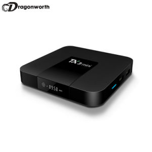 Auf lager betriebsbereiter Amlogic S905W Tx3 mini androider intelligenter Fernsehapparat-Kasten