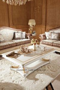 0062-1 de Italiaanse Stevige Houten Antieke Witte Koffietafel van de Luxe