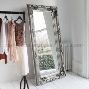 Venda por grosso de madeira com novo design antigo para entalhar espelho emoldurado na parede