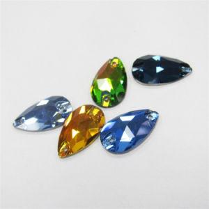 Naait de Vlakke Rug van het Kristal van Dongzhou 3230teardrop op Parels voor Kleding