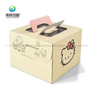 마분지 케이크 상자를 인쇄하는 골판지