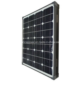 Estrutura preta do módulo Solar Dobrável portátil com o controlador