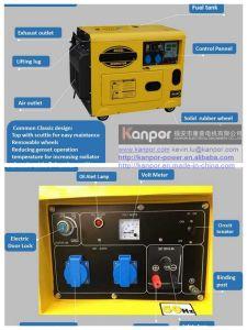 5000W 공기는 피지를 위해 한 전기 시작 휴대용 발전기를 냉각했다