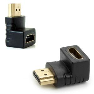 Le HDMI femelle à mâle du connecteur de l'extension avec jusqu'Angle de virage vers le bas Angle de braquage pour la TVHD 1080p