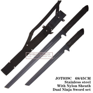 Cuchillos de caza de las cuchillas de doble Espada Ninja Settactical cuchilla fija Jot039c